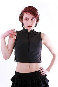 Destruction Zip Gothic Top