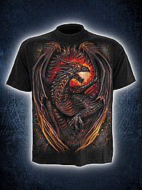 Dragon Furnace T-Shirt schwarz SPIRAL
