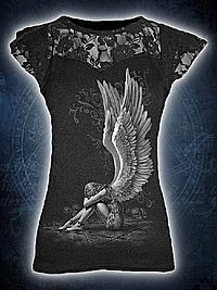 Enslaved Angel Top mit Netzapplikation SPIRAL