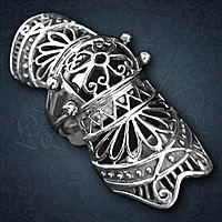 Finger Armor Ornamental Silber
