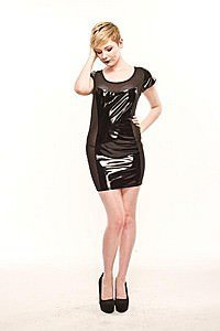 Gloss and Gomma Gothic Lack Kleid