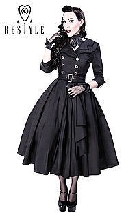 Gothic Kleid COAT DRESS