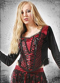 Gothic Miederbluse Nocturnal Girl