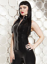 Killer Zipped Sleeveless Top Latex