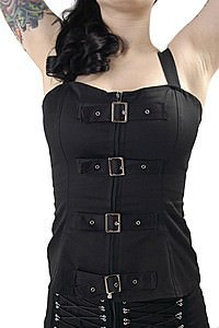 Mal Buckle Gothic Top