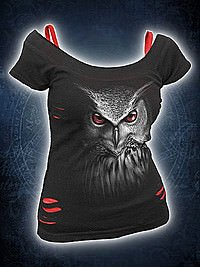 Night Hunter Girlie 2in1 Schlitzshirt SPIRAL