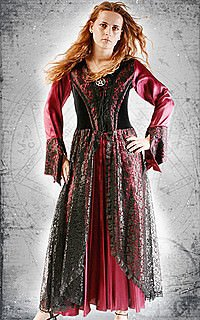 Nightingale Hexen-Kleid, Satin