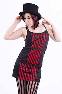 Nora Stripe Gothic Top