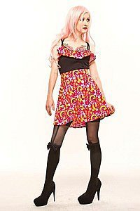 Peace Print Flared Pinup Rock