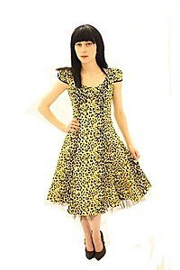 Pin Up Kleid Leopardenmuster