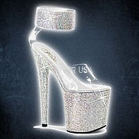 Pleaser BEJEWELED-812RS Klar Silber Multi Strass