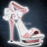 Pleaser BLONDIE-615 Pink-Weiss