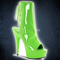 Pleaser DELIGHT-1018UV Neon Green Lack