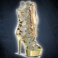 Pleaser DELIGHT-600-36 Gold Chrome