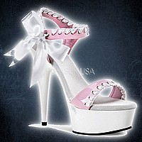 Pleaser DELIGHT-615 Baby Pink-Weiss