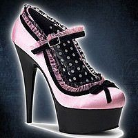 Pleaser DELIGHT-683 Baby Pink-Schwarz