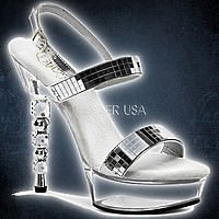 Pleaser DICE-617 Silber-Mirror-Klar
