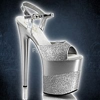 Pleaser FLAMINGO-809-2G Silber