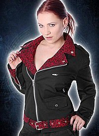 Red Leo Punk Star Jacke, Baumwolle