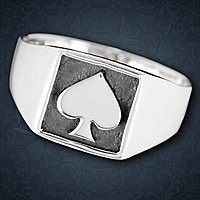 Ring Spades Silber