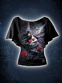 Rose Fairy Girlie Bootskragen Shirt SPIRAL
