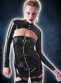 Rubber Buckled Suspender Tube Latex Kleid