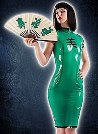 Rubber Geisha Dress Latex Kleid
