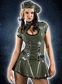 Rubber HNR Army Dress Latex Kleid