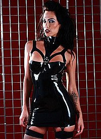 Rubber Liberty Suspender Dress Latex Kleid