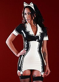 Rubber Matilda Maid Dress Latex Kleid