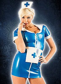 Rubber Night Nurse Dress Latex Kleid
