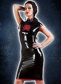 Rubber Nightshade Geisha Latex Kleid