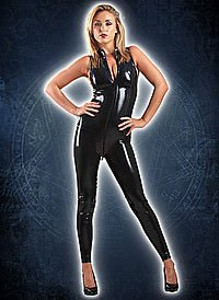 Rubber Sleeveless Catsuit Latex