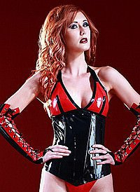 Rubber Vamp Corset Latex