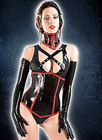 Rubber Vixen Corset Latex