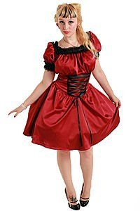 Sadie Satin Short Gothic Kleid