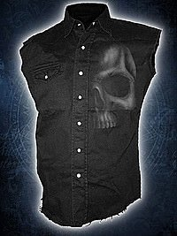 Shadow Skull Vintage Workshirt ärmellos SPIRAL