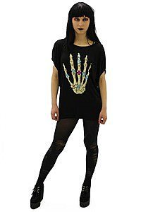 Skeletal Hand Gothic Shirt