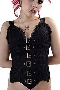 Tabatha Buckle Bodice Gothic Top