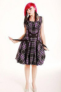 Thistle Ballon Tape Punk Kleid