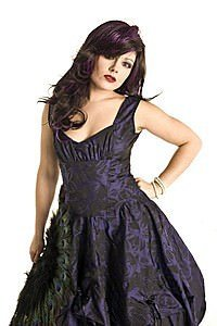 Val Rose Brocade Gothic Kleid