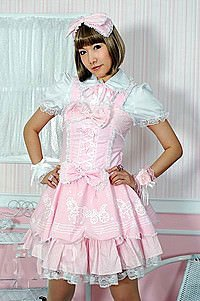 Visual Kei Pony Lolita Dress Gothic Mini-Kleid