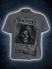 Wanted T-Shirt im Kohle-Look SPIRAL