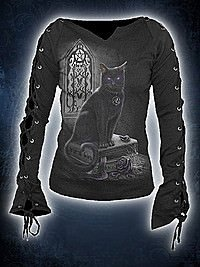 Witch Cat Longsleeve SPIRAL